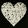 Wicker heart bleached Y353