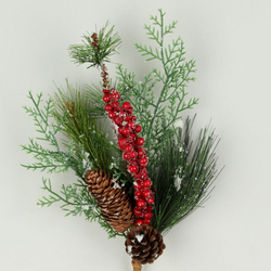 Decorative twig with cones