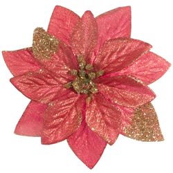 Poinsettia with glitter