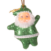 Hanging Santa Claus with glitter x 6 pcs. S163